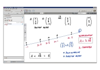An example of online maths tuition for C4 Core Maths. The topic is vectors.